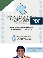 Codigo de Etica de La Funcion Publica