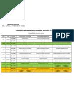 Calendrier Examen S2 2011-2012 2eme A