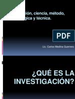 1 Investigacion Ciencia y Metodo