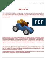 Planos de Juguete de Madera, Perrito en Auto