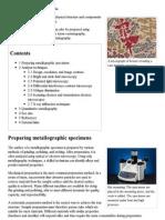 Metallography - Wikipedia, The Free Encyclopedia