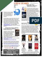 Student Newsletter - February 2013