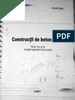 Curs constructii din beton armat Viorel Popa