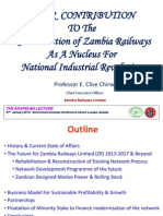 EIZ Zambia Railway Reconstruction - Akapelwa Lecture by Clive Chirwa