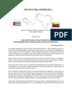 Convenios Cuba Venzuela Octubre-2007