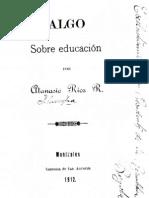 Algo Sobre Educacion Documento de 1912