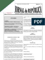 (2009-10-14) diploma ministerial 07-2009-MAEOT (estabelece as comissões preparativas dos municípios)