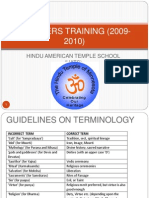 Recommended Hindu Terminology