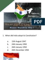 Indian Republic Day Quiz