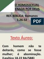 A UNIÃO HOMOSSEXUAL É CONDENADA POR DEUS