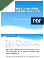 Garantias Financieras Para El Cierre de Minas