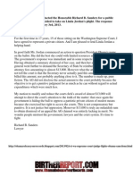 Ret. Washington State Supreme Court Justice Challenges 13,000 Sanctions Against Obama Challenger - 2/3/2013