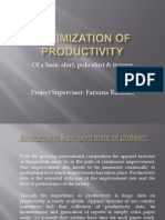 Optimization of productivity of garments