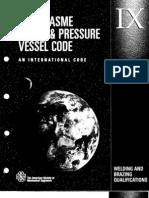 2001 Asme Boiler & Pressure Vessel Code Ix