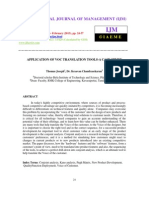 APPLICATION OF VOC TRANSLATION TOOLS-A CASE STUDY
