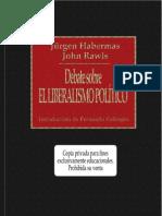 Habermas y John Rawls Debate Sobre El Liberalismo Politico