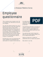Questionnaire on job satisfaction