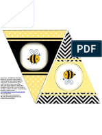Free Printable Bee Party Theme Flag Banner