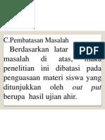 PEMBATASAN MASALAH (MAKALAH PENDADARAN)