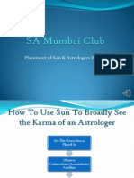 Sun and Astrologers Karma