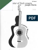 Classical Guitar of Bach (Joseph Harris)