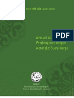 Laporan Tahunan PATTIRO (Pusat Telaah dan Informasi Regional) 2006