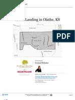 Neighborhood Report, Arbor Landing in Olathe Kansas 66062