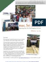 Myanmar and Sri Lanka Ministry Trip 2013