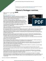 Senators Assail Obama's Pentagon Nominee, Question Judgment