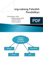 cabang falsafah pendidikan