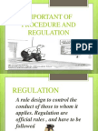 the important of procedure and regulation