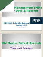 EGN 5620 Enterprise Sys MM Master Data