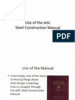 Use of AISC Manual
