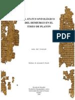 Demiurgo en el Timeo de Platón.pdf
