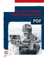 The Art of Weibo Crisis Management