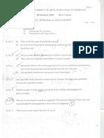 Project Appraisal & Management 2009-2011