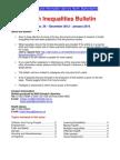 Health Inequalities Bulletin no. 36 December 2012-January 2013