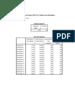 Hasil Output SPSS Uji Validitas Dan Reliabilitas Ayu
