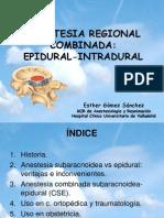 Anestesia Combinada (Epidural + Peridural)