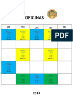 Horarios oficinas 1° semestre2013