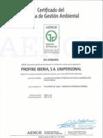 Certificado AENORr Medio Ambiente