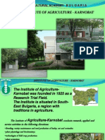 Institute of Agriculture, Karnobat, Bulgaria
