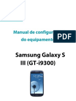 Manual Configuracao Samsung Galaxy s3