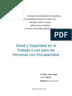 Segurida Social Ley de Discapacidad
