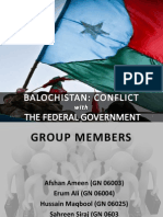 Baluchistan Conflict with Federal Government