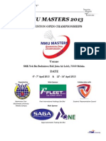 MMU MASTERS 2013 Registration Form