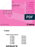 Canon Lv-7350-7355 Lcd Projector