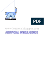 Artificial Intelligence Notes