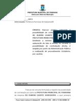 Parecer PMI X RD Rubens Siqueira Duarte - Inexigibilidade de licitação