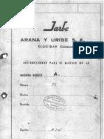 Manual Fresadora Jarbe-mod.A